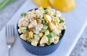 Lemon Apple Canned Salmon Salad - Paleo, Gluten Free
