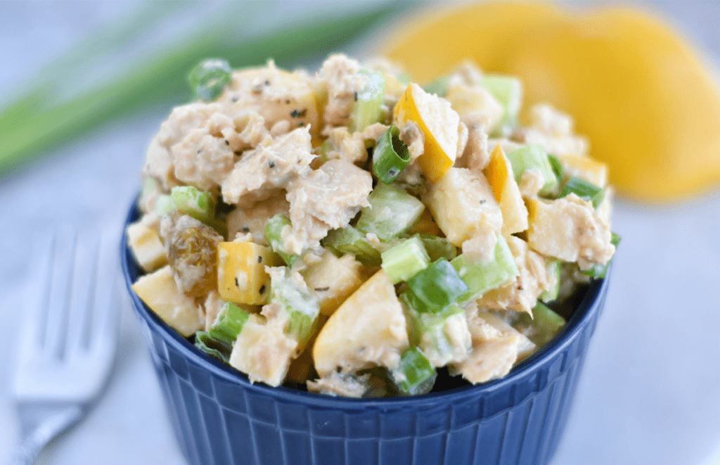 Lemon Apple Canned Salmon Salad - Paleo, Gluten Free