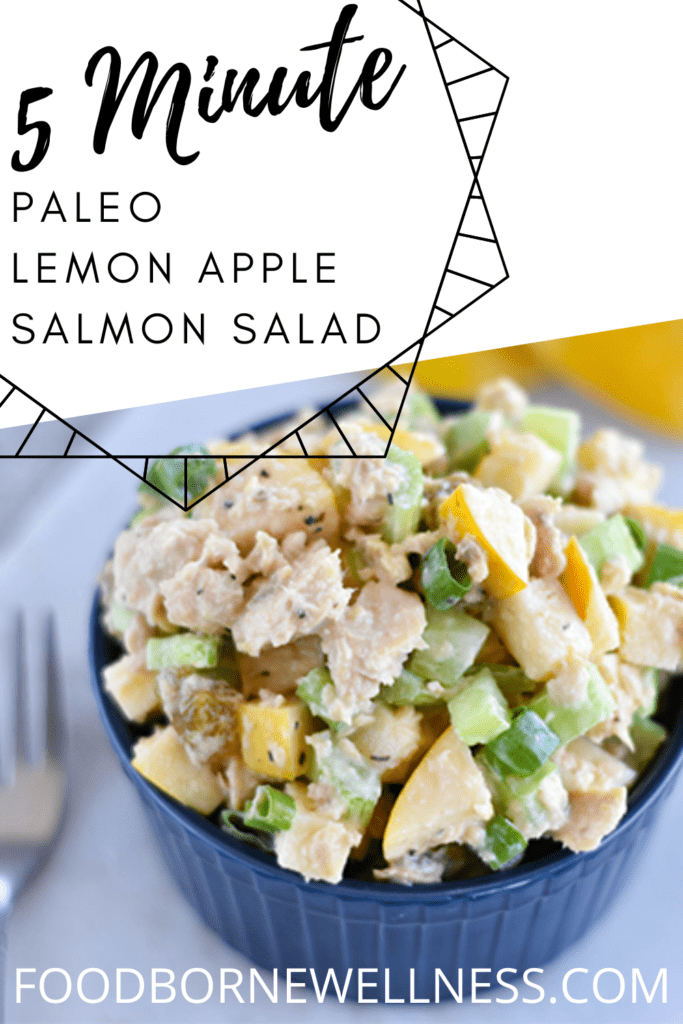 Lemon Apple Canned Salmon Salad - Paleo, Easy, Gluten Free