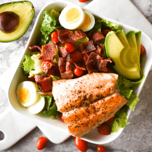 Paleo Salmon Cobb Salad Featured Image