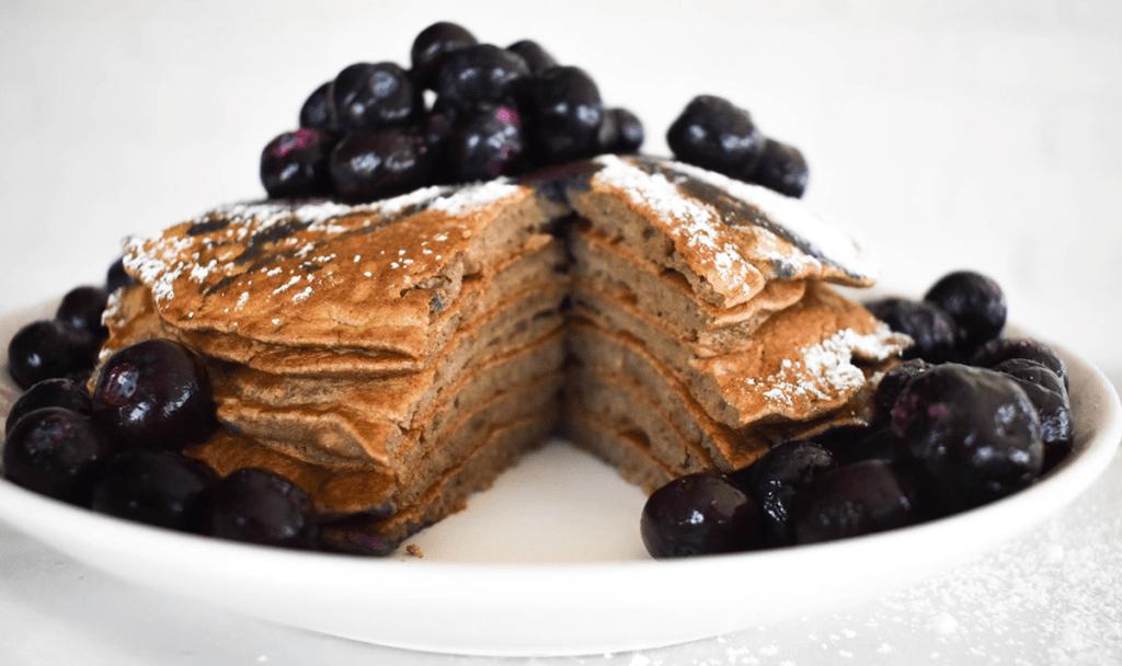 Paleo green banana flour pancakes