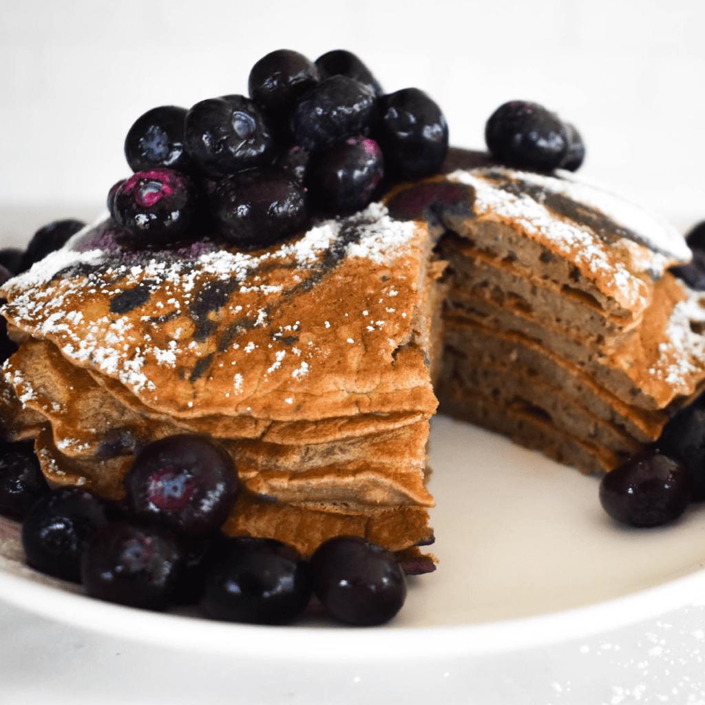 Paleo green banana flour pancakes featured image