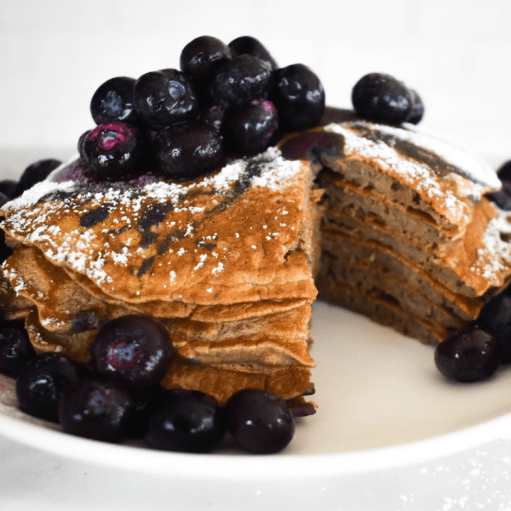 Paleo green banana flour pancakes featured image