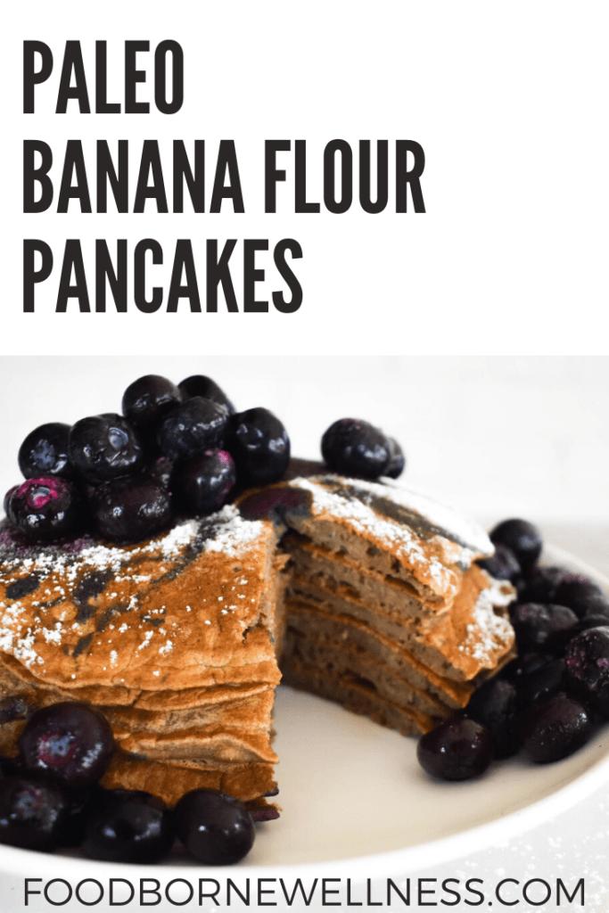 Paleo banana flour pancakes pinterest pin