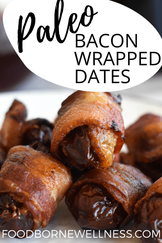 Bacon Wrapped Dates Pinterest Pin