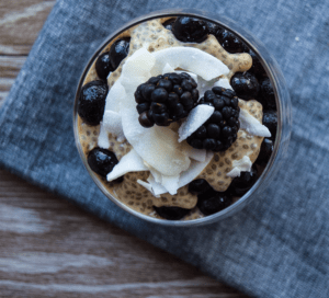 Paleo Coconut Chia Pudding Parfait