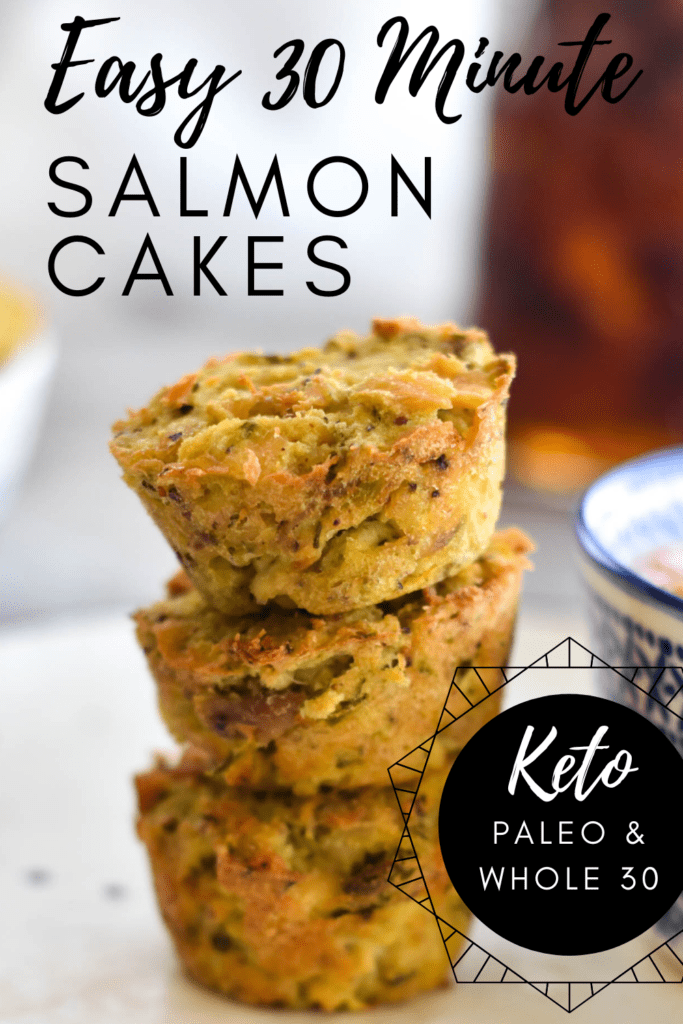Keto Salmon Cakes Pinterest Pin