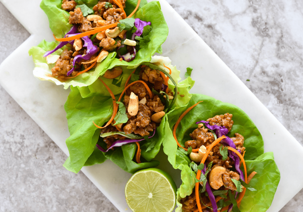Thai Chicken Lettuce Wrap - 30 minute meal, paleo