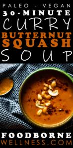 Paleo Curry Butternut Squash Soup