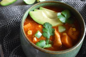 paleo chipotle cod and sweet potato chowder