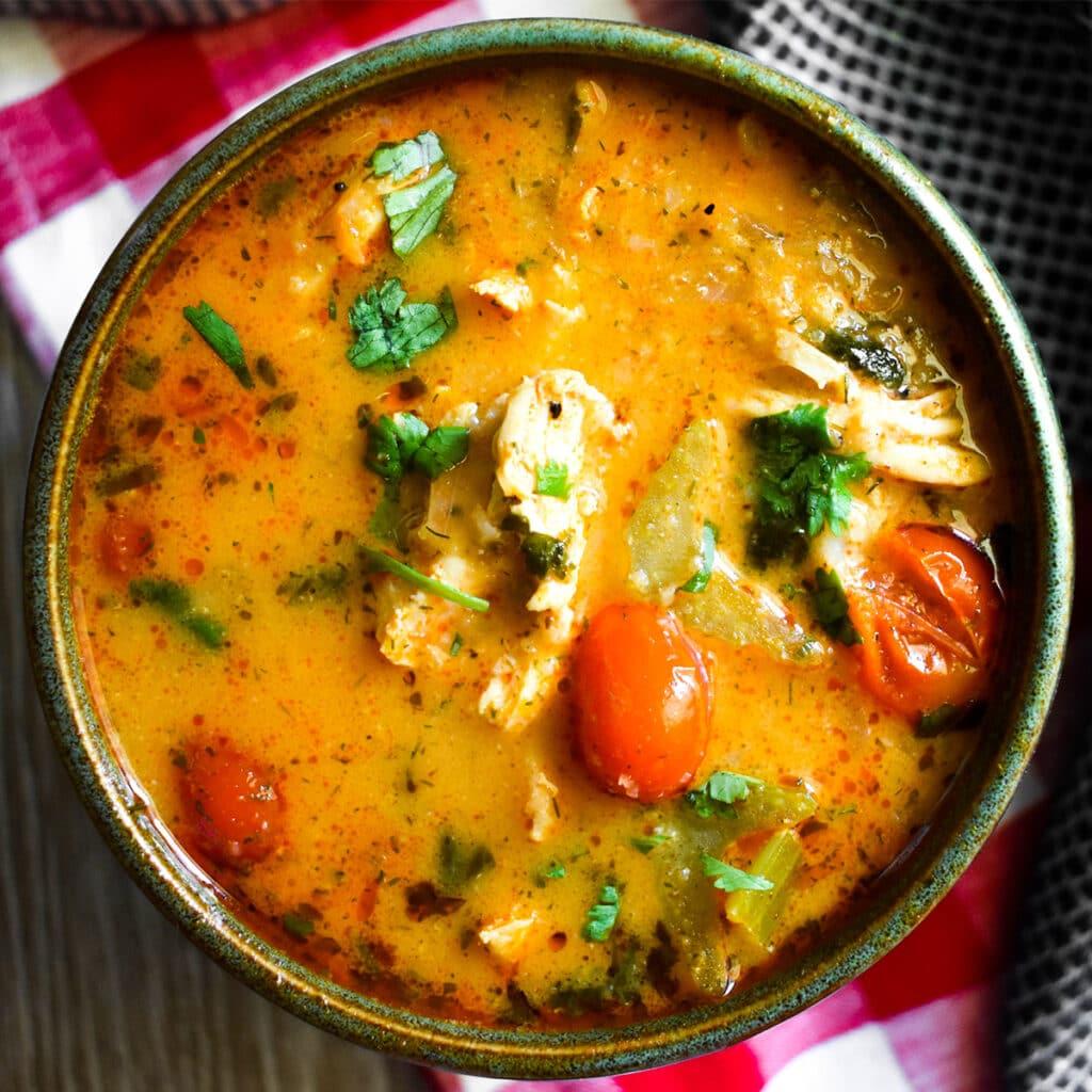 Keto Buffalo Chicken Soup Featured Image