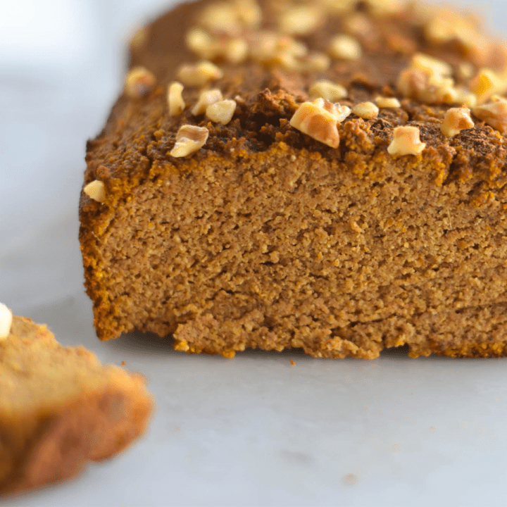 keto pumpkin bread featured image