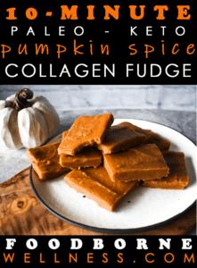 Pinterest pin for pumpkin fudge