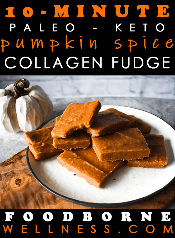Pinterest pin for pumpkin fudge