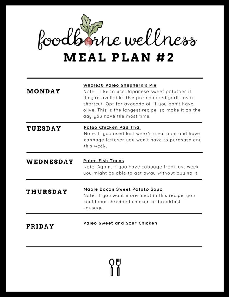Free Meal Plan 2
