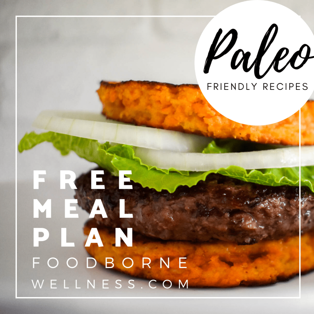 Pinterest Pin for Paleo Meal Plan 1