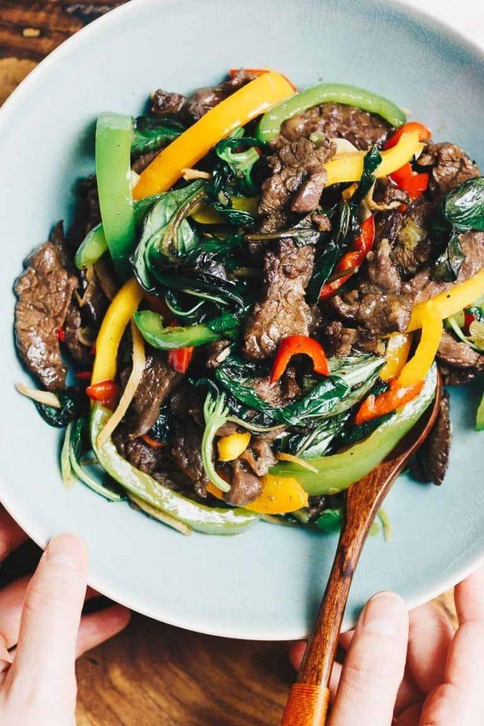 Paleo Thai Basil Stir Fry