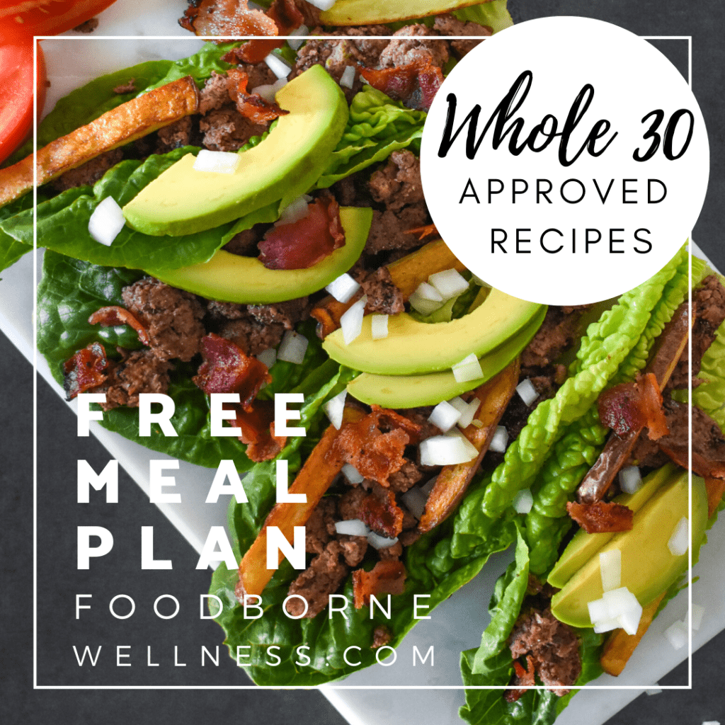 Whole 30 meal plan banner