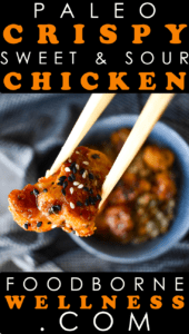 Paleo Sweet and Sour Chicken Pinterest Pin