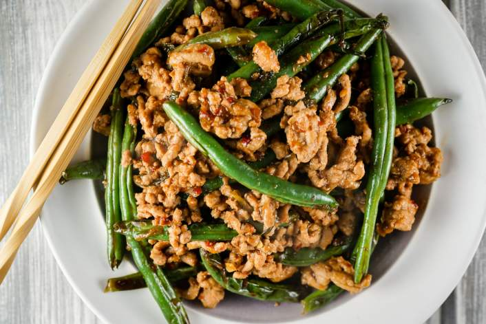 Ground turkey and green beans