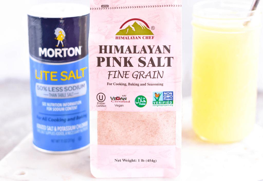 Lite Salt and Pink Himalayan Sea Salt