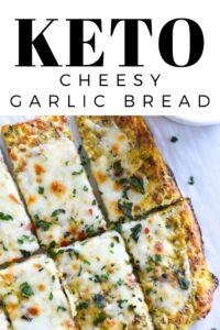 Keto Cheesy Garlic Bread - Low carb, gluten free