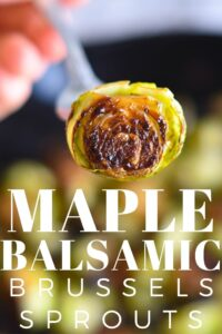 Maple Balsamic Brussel Sprouts - Paleo, Gluten Free
