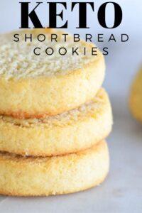 Keto Shortbread Cookies - Gluten free, low carb