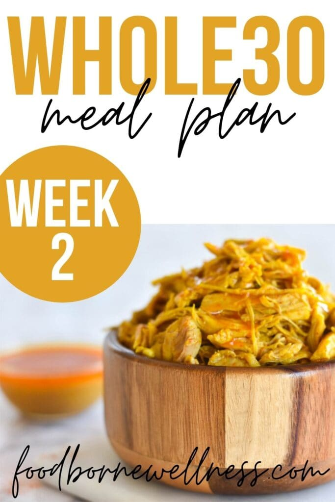 whole30 dinner meal plan week two