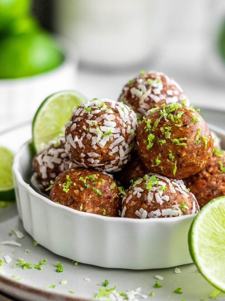 Paleo Key Lime Pie Energy Balls