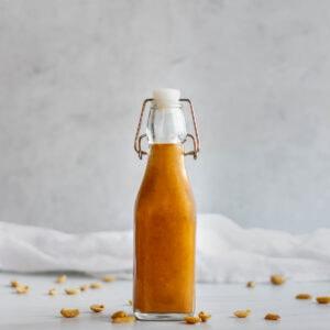 Bottle of Thai peanut dressing.