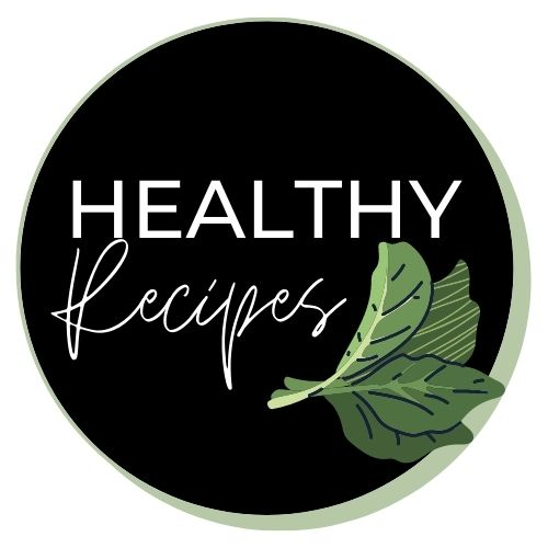 """Image with lettuce leaves that says """"healthy recipes""""."""