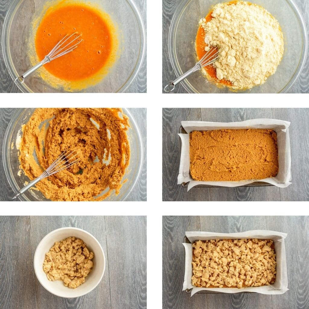 Paleo Pumpkin Bread Process Shots